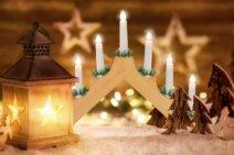 Lichtbrücke zu Weihnachten erstrahlen lassen