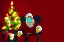 Mundschutz im passenden Weihnachtsdesign